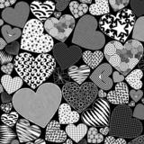 Love Hearts Doodle Art Pattern poster