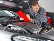 Master mechanic checking repair details