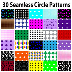 30 Star Seamless Circle Patterns