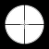 Sniper scope hunter on white background.