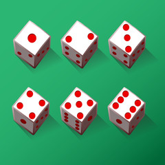 Illustration Set of dices
