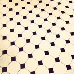 Retro tile floor