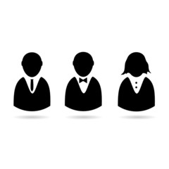 icon of people vector silhouette