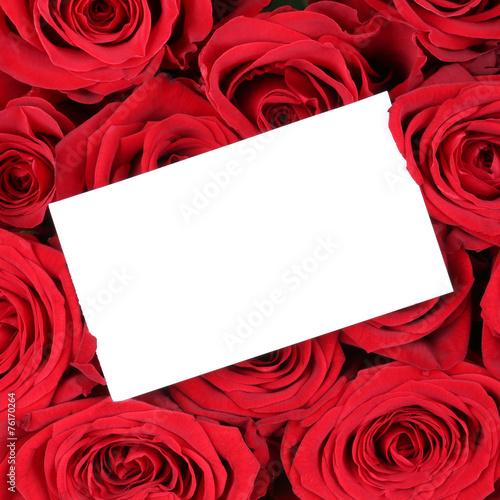 Markus Mainka   Fotolia.com Leeres Schild Mit Textfreiraum Auf Rote Rosen Zum  Valentinstag
