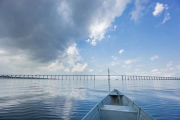 Center of Manaus Iranduba Bridge, Ponte Rio Negro