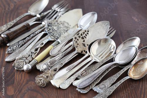 Leinwandbild Motiv Old cutlery