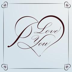 Calligraphic Heart for Valentine
