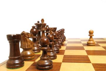 Einer gegen alle - Alle gegen einen - Schachfiguren auf Brett 1
