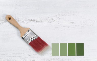 New hand paint brush and future color samples