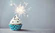 Cupcake with a sparkler - 76171835