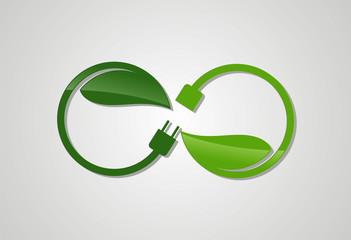 Enercy eco plug logo vector
