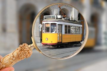 Tram in Lisbon, Portugal