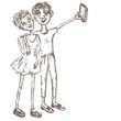 Obrazy na płótnie, fototapety, zdjęcia, fotoobrazy drukowane : Comical couple.