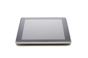 black tablet pc computer with blank screen
