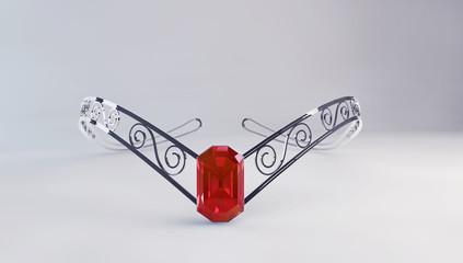 Diadem with ruby