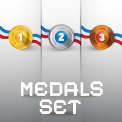 Vector Medals Set