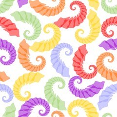 Seamless background with rainbow pastel grubs
