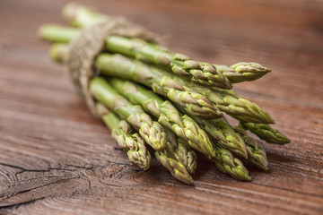 asparagus on brown