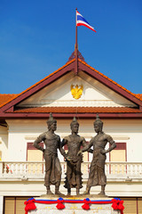 Three kings monument Thailand, Chiang Mai