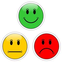 Smileys grün gelb rot #140116-05
