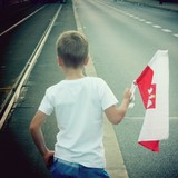 Fototapety Young polish boy flag patriot
