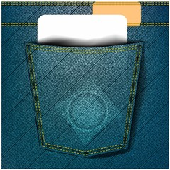 jeans pocket with condom