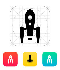 Long rocket icon on white background.