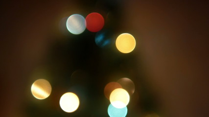 Christmas Lights Bokeh 3 4K