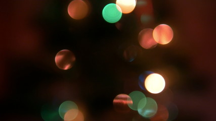 Christmas Lights Bokeh 1 4K