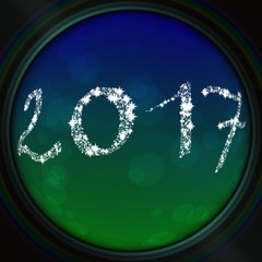 2017 inscription in the viewfinder lens
