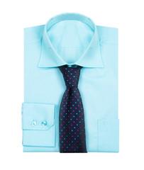 Male blue shirt isolated on white background