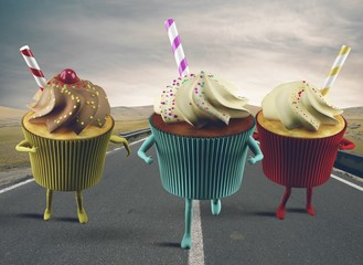 Cupcake on the road