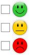 Smileys grün gelb rot #140116-06