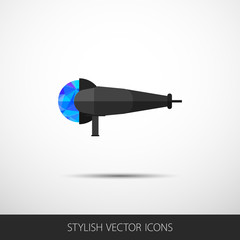 Vector grinder in a flat style with shadow.
