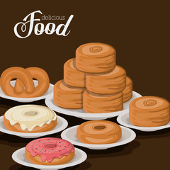 Bakery design, vector illustration.