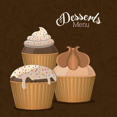 Desserts design, vector illustration.
