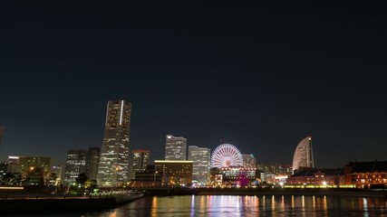横浜みなとみらいの夜景,インターバル動画