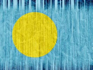 Palau flag paper texture