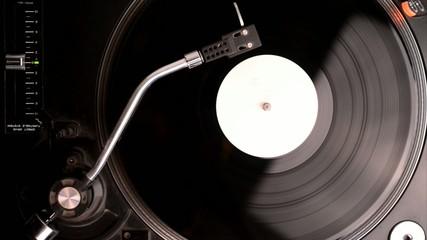 Schallplattenspieler mit white Label