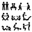 Exercise Workout with a Partner Pictogram
