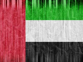 United Arab Emirates flag paper texture