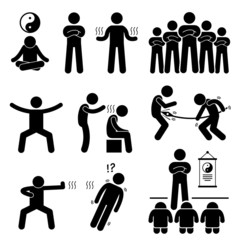 Qigong Qi Energy Power Pictogram