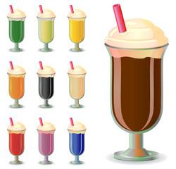 Various blended drink