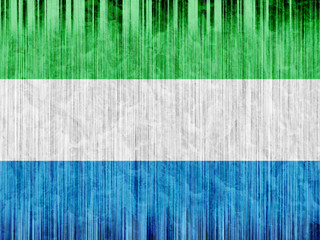 Sierra leone flag paper texture