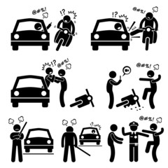 Road Bully Driver Rage Pictogram