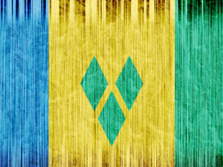Saint Vincent and The Grenadines flag paper texture