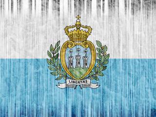 San Marino flag paper texture