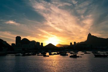 Rio de Janeiro Sunset above Botafogo