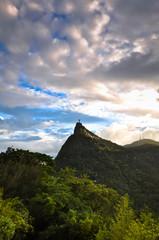 Corcovado with Christ the Redeemer Statue in Rio de Janeiro