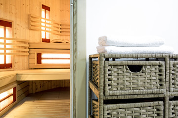 Sauna area in modern house